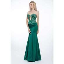Crystal Detailing Floor Length Dubai Designers Wholesale Evening Dresses