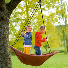 Garden funny canoe patio swing for kids