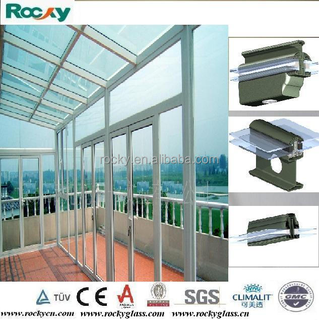 ROCKY on one level aluminium garden sun room