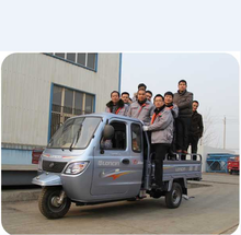 Loncin 3000kg 250cc 300cc 600cc heavy load self discharging semi-closed cargo tricycle/three wheel motorcycle with cabin