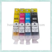 2014 New products compatible ink cartridge 655 for printer HP Deskjet 3525 /4615/6525/5525/4625