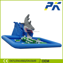 Customized factory price fast delivery kids inflatable water slides pools