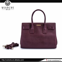 Wishche Guangzhou Big Size Official Office Ladies Bag Women Luxury Handbag Women Bags Wholesale Designer Handbags New York W3701