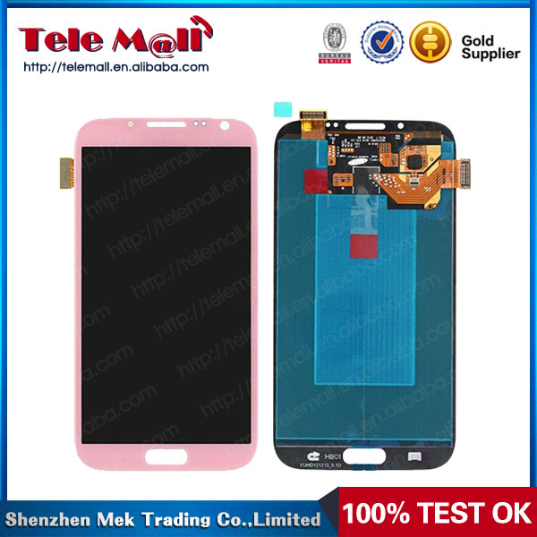 Wholesale Bubble Blue For Samsung Galaxy Note 2 II N7100 LCD Touch Screen Display Digitizer Assembly White Color
