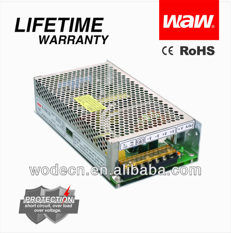 150w dc 12v power supply for LED/CCTV Camera/LCD