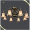 High Reputation Light Classic Design Ceiling Lamp Home Decorative Lighting Wrought Metal Glass Lamp