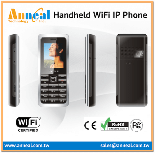 Low Cost Affordable Slim Style Handheld GSM WiFi SIP Phone for IP PBX