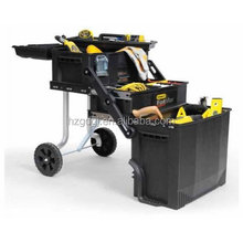 GD5070 Stanley Fatmax style stackable plastic moving tool chest tool trolley, rolling tool box with wheels