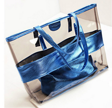 Manufacturer custom high quality women PU PVC tote bag beach bag