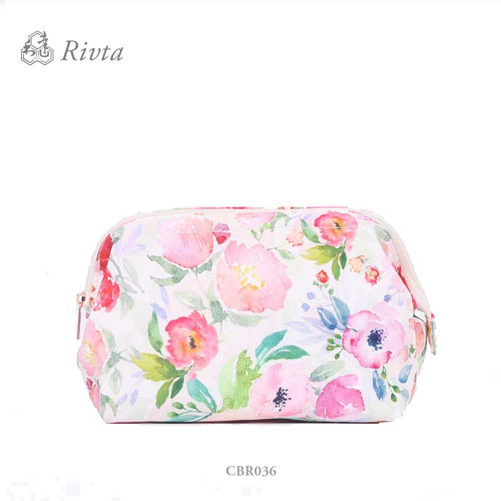 eco friendly custom private label RPET cosmetic bag case make up bags for women
