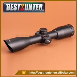 Leaers UTG 4X32 Angled Integral Sunshade Riflescope Full Size Optical Sight Red Green Mil Dot Rifle Scope