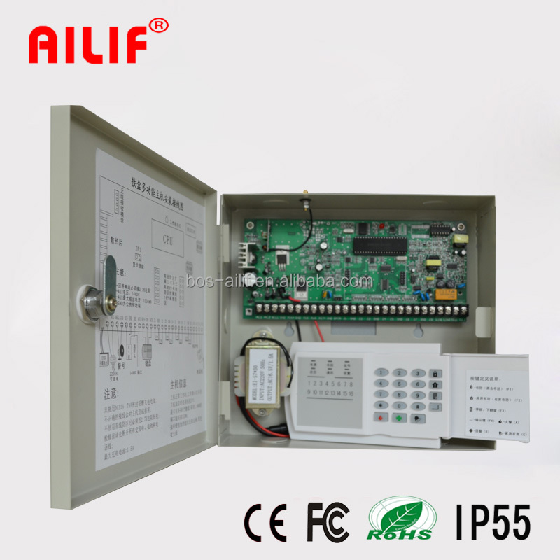 China 16 Zones Wired/Wireless Alarm Control Panel For Security Alarm ALF-238W