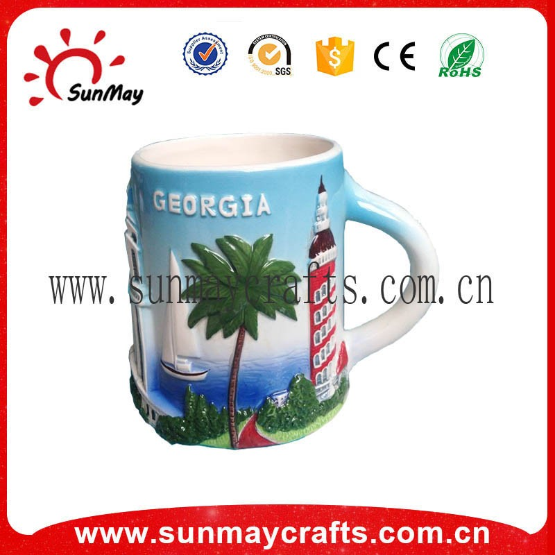 2017 new design personalized custom tourist porcelain travel mug ceramic coffee mug