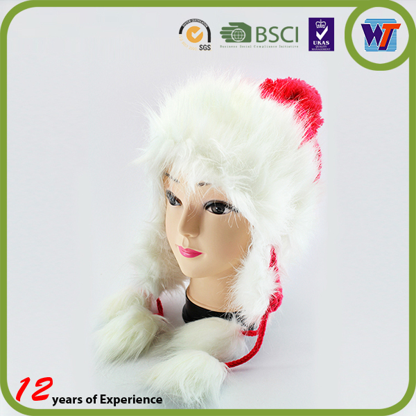 Girls Funny Hand Knitted Rabbit Fur Beanie Hat Beautiful Comfortable Winter Hats