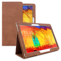 Snugg case for Samsung Galaxy Note 10.1 2014 Edition Case in Distressed Brown Leather