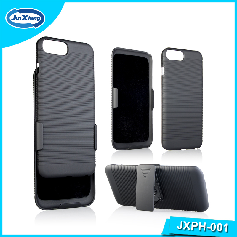 Cheaper Plastic Mobile Phone Belt Clip Stand Holster PC Case for iPhone 7 plus