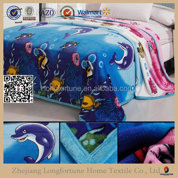 Manufacturer china best sale cheap price cartoon printed super soft baby coral fleece blanket