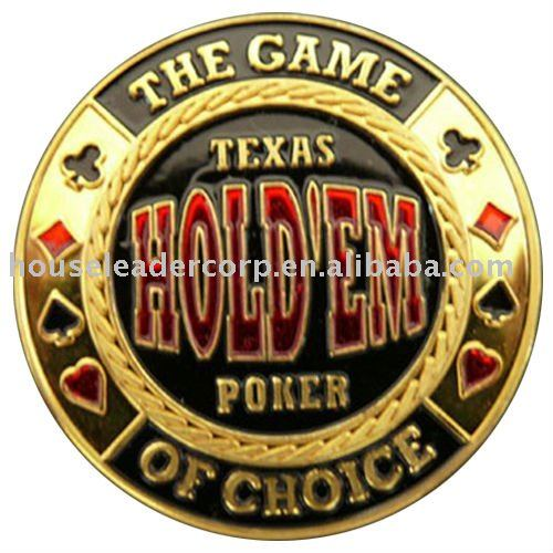 """Texas Hold'em Poker - The Game Of Choice"" Poker Card Guards Protector"