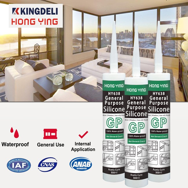 General Purpose Water And Weather Resistant Acetic Silicone Sealant