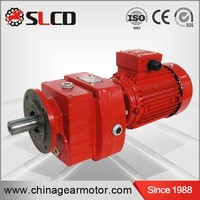 RC series helical gearbox RC motor gearbox horizontal or vertical installation gearbox