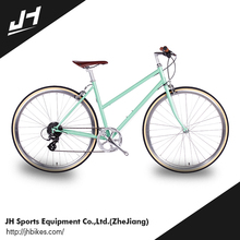 Well Sale Safety Item Woman 700C 8 Speed Two Wheel Classic Iron City Bike