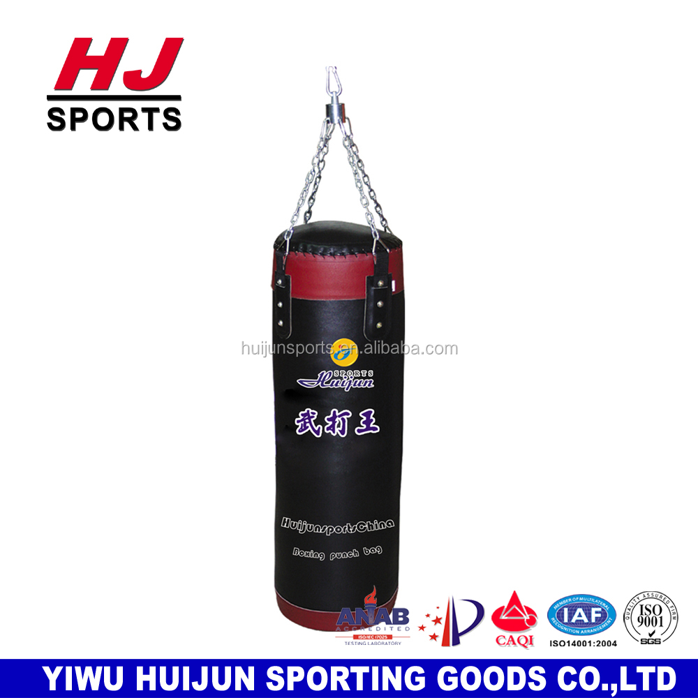 HJ-G2015 Factory Supply HUIJUN Leather Heavy boxing punching bag Fitness Equipment Sand Bag