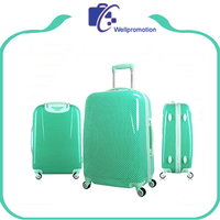 New style fashion PC trolley luggage bags cases for girl