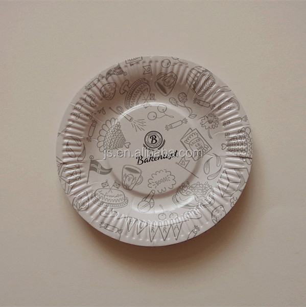 Bagasse divided paper plates