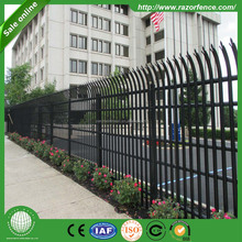 perforated corrugated metal panels W Profile Single Spike Palisade Fence
