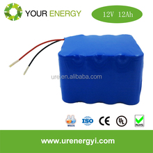 solar powered security light lithium iron phosphate battery pack lifepo4 12v 12ah li-ion battery