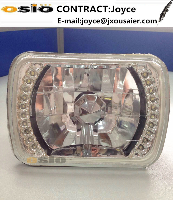 5 inch Square LEDs Halo Ring Semi Sealed Beam Lamp