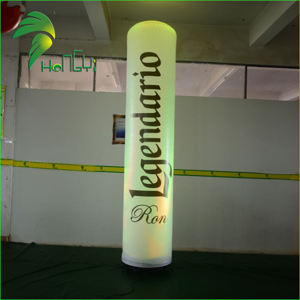 2M Height Decoration Multi Color Inflatable LED Totem / Advertising Display Lighting Totems Tube Conflable Balloon