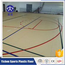 pvc plastic floor Volleyball/Futsal/Tennis carpet for basketball court