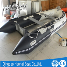 CE 4.3m high quality aluminum floor inflatable fishing boat for sale