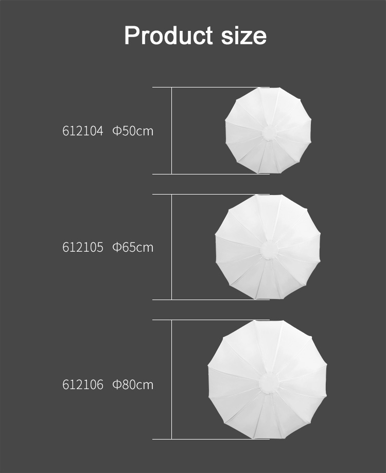 50cm NiceFoto Global softbox 50cm Spherical Softbox for studio flash fot LED video light for photo studio light photography