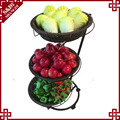 Wholesales handwoven PE plastic rattan storage shelf for fruit and vegetables