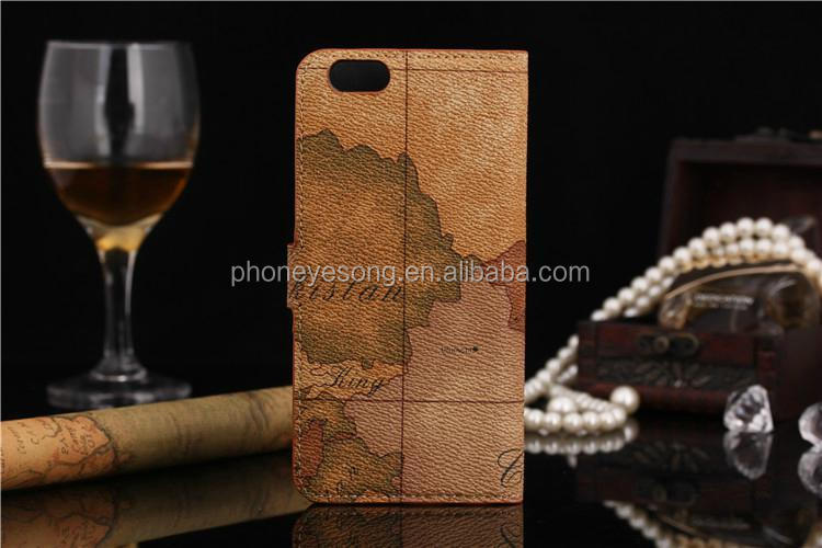 Cell phone flip leather case aim global market for iphone 5