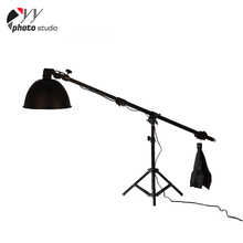 Newest high performance photography video light stand telescopic reflector disc boom arm