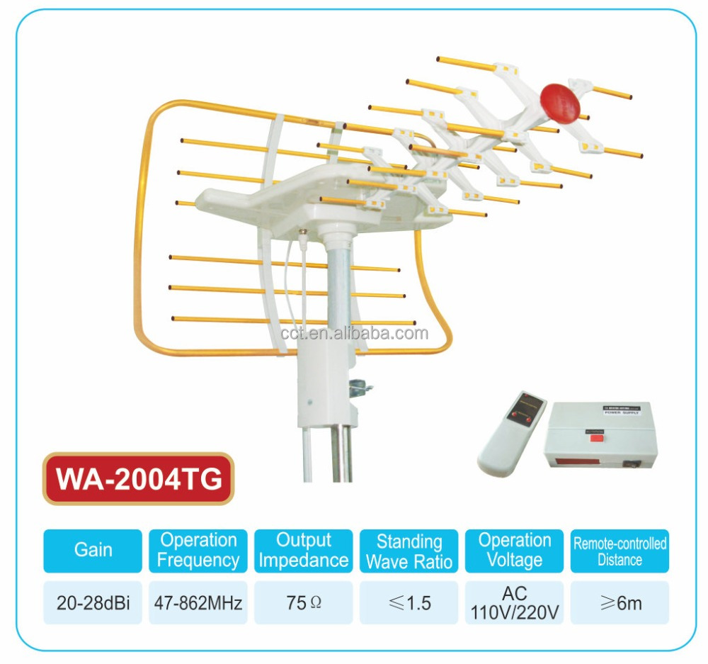 Amplified HD Digital Outdoor HDTV Antenna with Infrared Remote Control