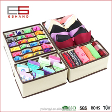 Foldable Storage Drawer Closet Dresser Organizer Bins for Underwear, Bras, Socks, Ties, Scarves, Accessories and More - 6 Piece