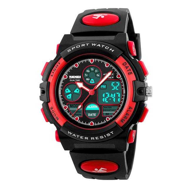 2018 China best wrist watch supplier SKMEI 1163 plastic strap kid watch fashion digital wristwatches for kids
