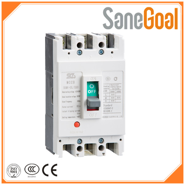 Yueqing Supplier Wholesale high quality 3 /4 Pole 6,10,20,25 63 amp Mccb Moulded Case Circuit Breaker