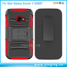 pc tpu combo hard kickstand mobile phone case for samsung galaxy g390f , belt clip case for samsung galaxy xcover 4