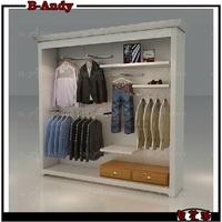 New product brand apparel hanging wood garment rack supplier,garment display rack