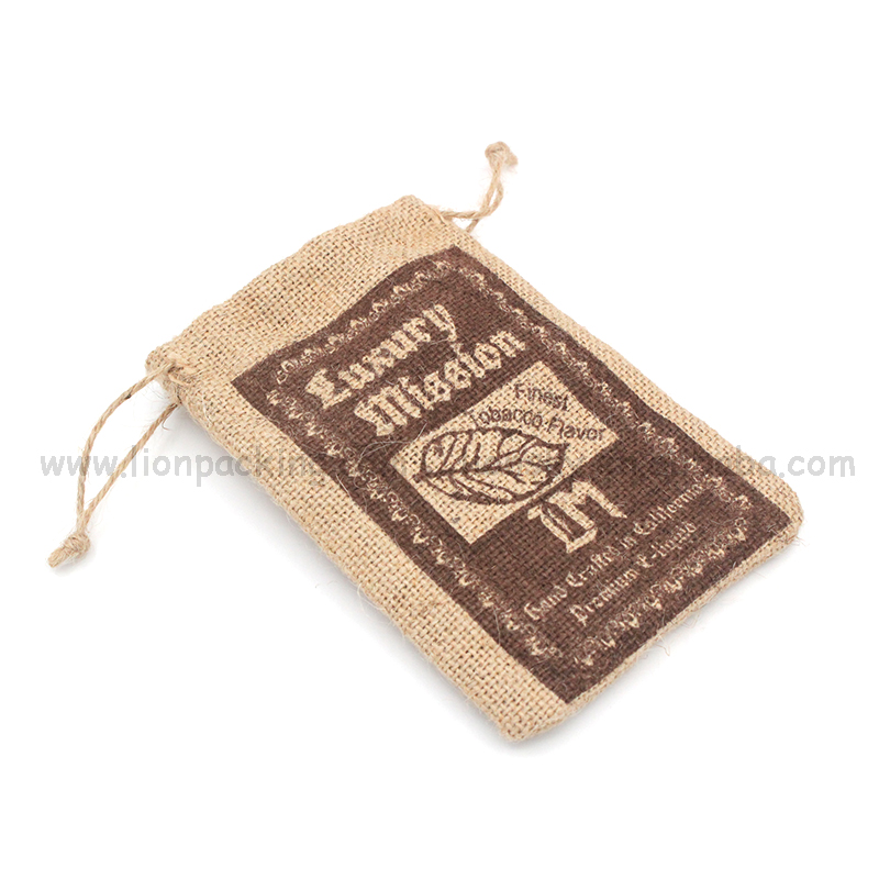 Hot sale little partied jewelry jute bags christmas hessian sacks