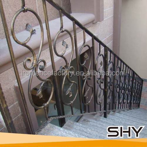 2016 latest morden house design railing wrought iron stair