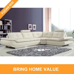 Compact corner sofas modern living room sets with adjustbale armrests and removable headrests for home