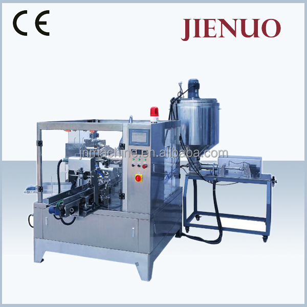 coconut oil stand up pouch packing machine