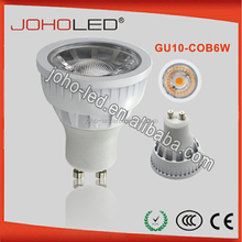 230v AC Samsung COB 6W gu10 led spotlights with 3years warranty