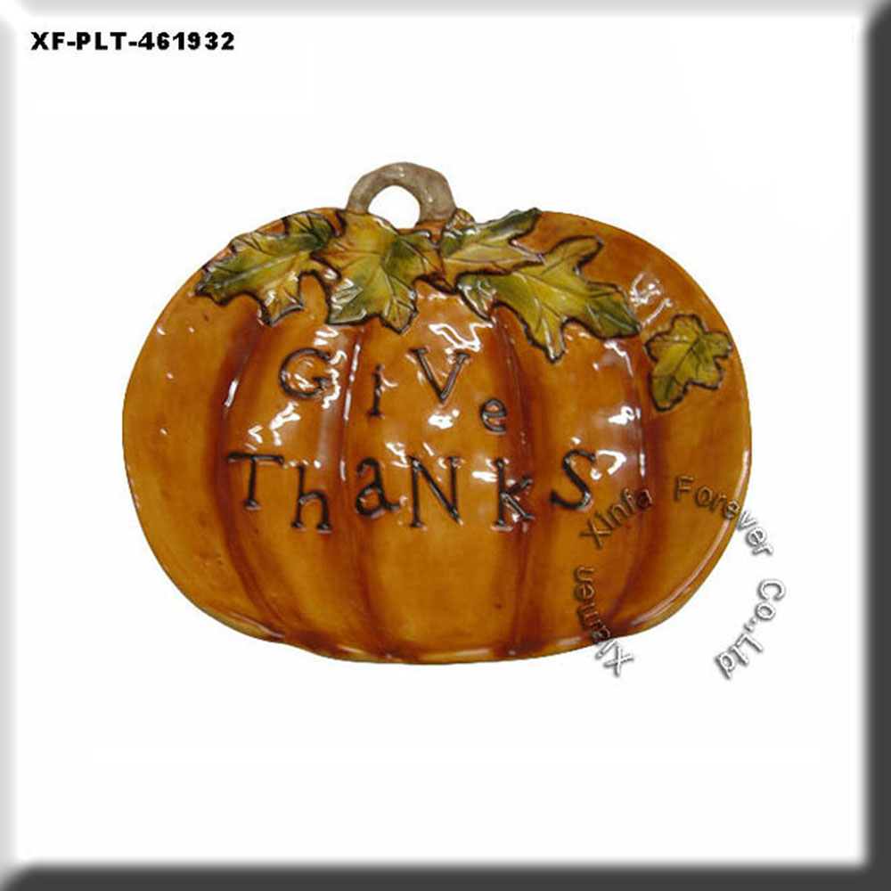 halloween pumpkin plate decorations